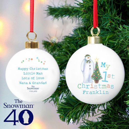 Personalised The Snowman My 1st Christmas Bauble